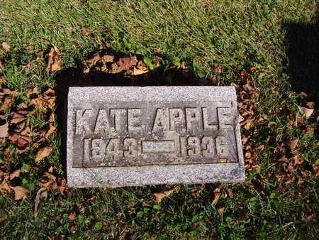 APPLE, KATE - Montgomery County, Ohio | KATE APPLE - Ohio Gravestone Photos