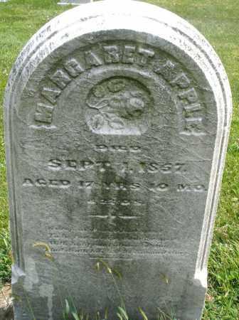 APPLE, MARGARET - Montgomery County, Ohio   MARGARET APPLE - Ohio Gravestone Photos
