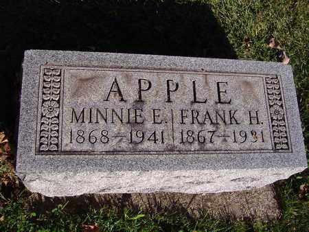 APPLE, FRANK H - Montgomery County, Ohio | FRANK H APPLE - Ohio Gravestone Photos