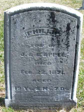 APPLE, PHILLIP - Montgomery County, Ohio | PHILLIP APPLE - Ohio Gravestone Photos