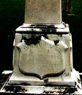 BAKER, ANNA V. - Montgomery County, Ohio | ANNA V. BAKER - Ohio Gravestone Photos