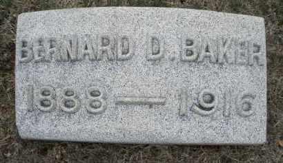 BAKER, BERNARD D. - Montgomery County, Ohio   BERNARD D. BAKER - Ohio Gravestone Photos