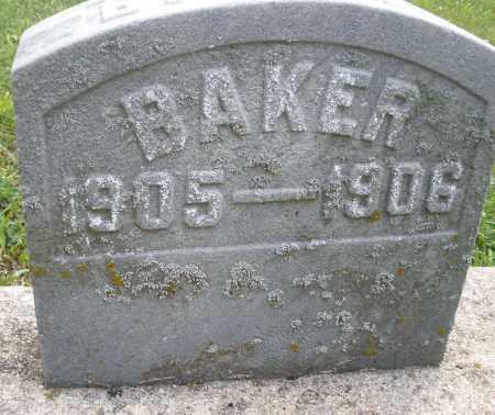 BAKER, BABY - Montgomery County, Ohio   BABY BAKER - Ohio Gravestone Photos