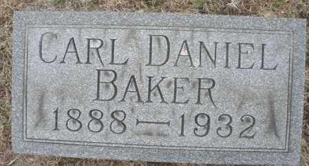 BAKER, CARL DANIEL - Montgomery County, Ohio | CARL DANIEL BAKER - Ohio Gravestone Photos