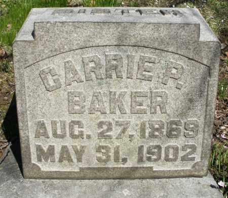 BAKER, CARRIE P. - Montgomery County, Ohio | CARRIE P. BAKER - Ohio Gravestone Photos