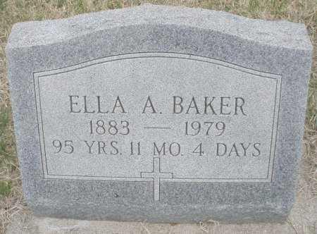 BAKER, ELLA A. - Montgomery County, Ohio   ELLA A. BAKER - Ohio Gravestone Photos