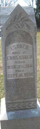 BAKER, ESTHER - Montgomery County, Ohio   ESTHER BAKER - Ohio Gravestone Photos