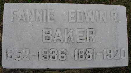 BAKER, EDWIN R. - Montgomery County, Ohio | EDWIN R. BAKER - Ohio Gravestone Photos