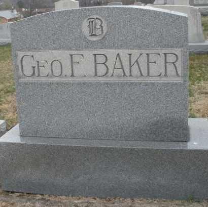 BAKER, GEORGE F. MONUMENT - Montgomery County, Ohio | GEORGE F. MONUMENT BAKER - Ohio Gravestone Photos
