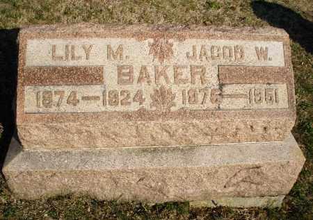 BAKER, LILY M. - Montgomery County, Ohio | LILY M. BAKER - Ohio Gravestone Photos