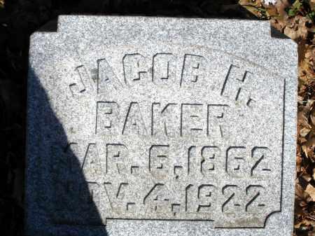 BAKER, JACOB H. - Montgomery County, Ohio   JACOB H. BAKER - Ohio Gravestone Photos