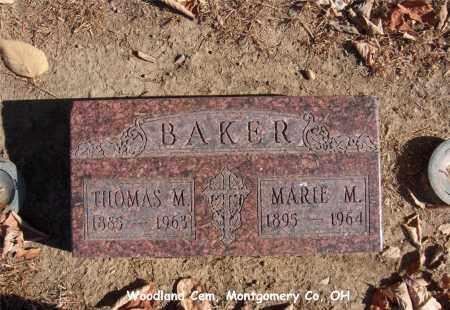 BAKER, MARIE - Montgomery County, Ohio | MARIE BAKER - Ohio Gravestone Photos