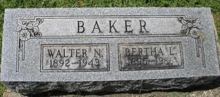 BAKER, WALTER N. - Montgomery County, Ohio | WALTER N. BAKER - Ohio Gravestone Photos