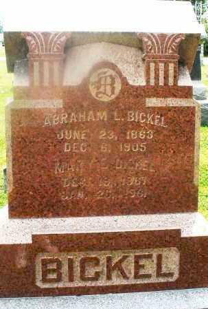 BICKEL, ABRAHAM L. - Montgomery County, Ohio | ABRAHAM L. BICKEL - Ohio Gravestone Photos