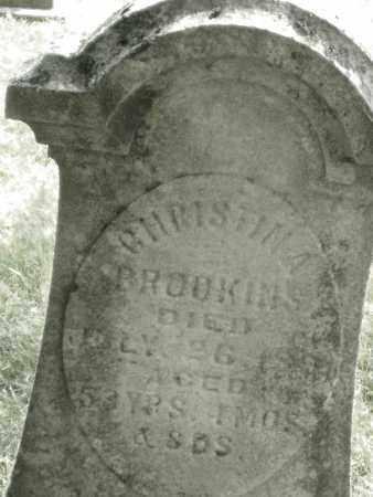 BROOKINS, CHRISTINA - Montgomery County, Ohio   CHRISTINA BROOKINS - Ohio Gravestone Photos