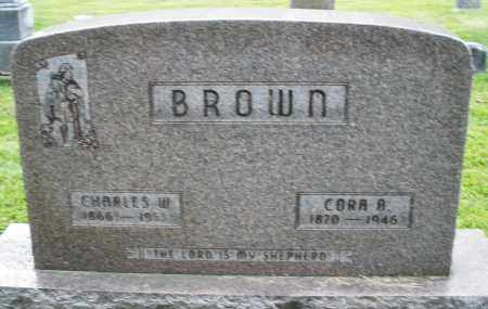 BROWN, CORA A. - Montgomery County, Ohio | CORA A. BROWN - Ohio Gravestone Photos