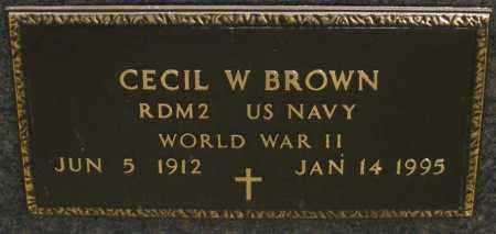 BROWN, CECIL W. - Montgomery County, Ohio | CECIL W. BROWN - Ohio Gravestone Photos