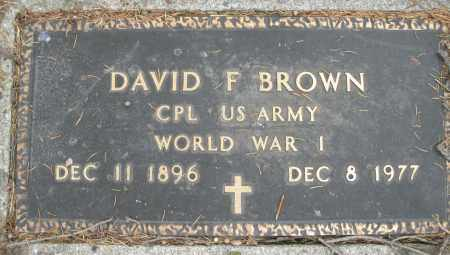 BROWN, DAVID F. - Montgomery County, Ohio | DAVID F. BROWN - Ohio Gravestone Photos