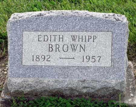 BROWN, EDITH - Montgomery County, Ohio   EDITH BROWN - Ohio Gravestone Photos