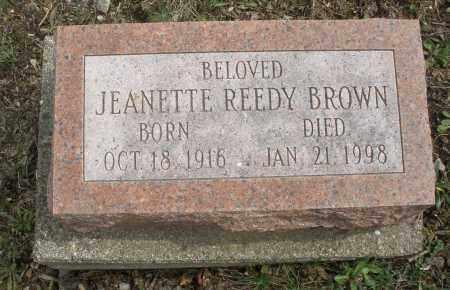 BROWN, JEANETTE - Montgomery County, Ohio | JEANETTE BROWN - Ohio Gravestone Photos