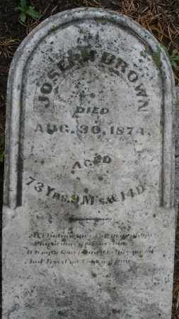 BROWN, JOSEPH - Montgomery County, Ohio   JOSEPH BROWN - Ohio Gravestone Photos