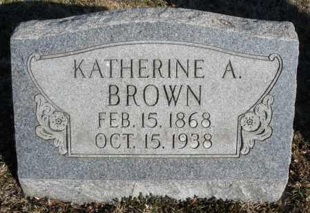 BROWN, KATHERINE A. - Montgomery County, Ohio   KATHERINE A. BROWN - Ohio Gravestone Photos