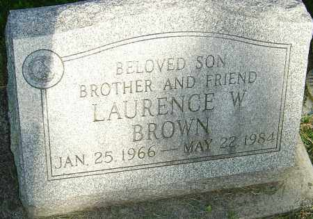 BROWN, LAURENCE W - Montgomery County, Ohio   LAURENCE W BROWN - Ohio Gravestone Photos