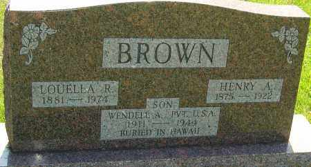 BROWN, HENRY A - Montgomery County, Ohio | HENRY A BROWN - Ohio Gravestone Photos