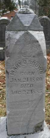 BROWN, MARY D. - Montgomery County, Ohio   MARY D. BROWN - Ohio Gravestone Photos