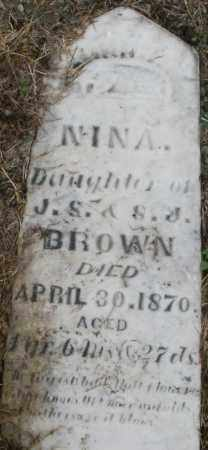 BROWN, NINA - Montgomery County, Ohio | NINA BROWN - Ohio Gravestone Photos