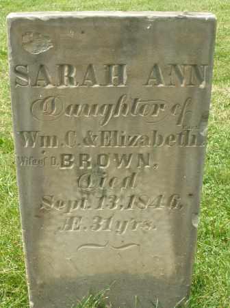BROWN, SARAH ANN - Montgomery County, Ohio   SARAH ANN BROWN - Ohio Gravestone Photos