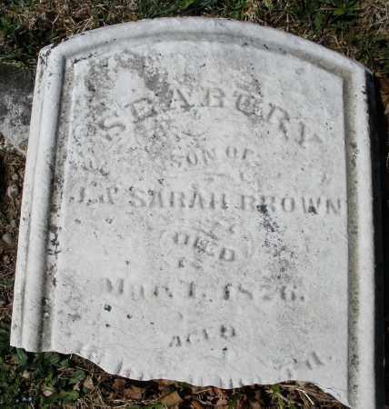 BROWN, SEABURY - Montgomery County, Ohio   SEABURY BROWN - Ohio Gravestone Photos
