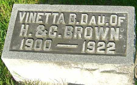 BROWN, VINETTA B - Montgomery County, Ohio | VINETTA B BROWN - Ohio Gravestone Photos