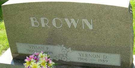 BROWN, VERNON D - Montgomery County, Ohio | VERNON D BROWN - Ohio Gravestone Photos