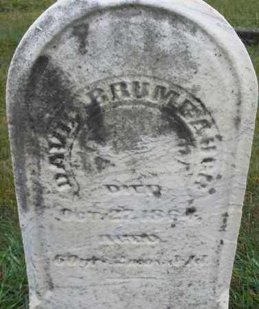 BRUMBAUGH, DAVID - Montgomery County, Ohio | DAVID BRUMBAUGH - Ohio Gravestone Photos