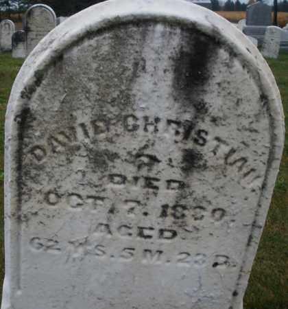 CHRISTIAN, DAVID - Montgomery County, Ohio | DAVID CHRISTIAN - Ohio Gravestone Photos