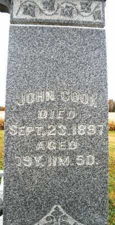 COOK, JOHN - Montgomery County, Ohio | JOHN COOK - Ohio Gravestone Photos