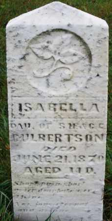 CULBERTSON, ISABELLA - Montgomery County, Ohio   ISABELLA CULBERTSON - Ohio Gravestone Photos