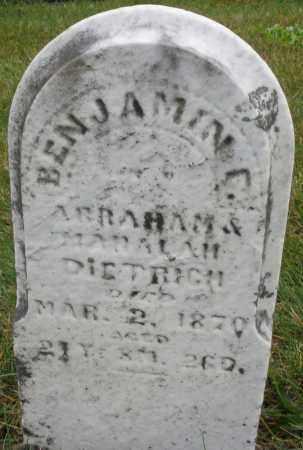 DIETRICH, BENJAMIN - Montgomery County, Ohio | BENJAMIN DIETRICH - Ohio Gravestone Photos