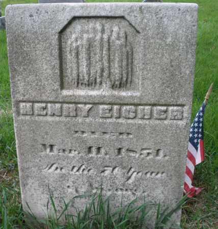 EICHER, HENRY - Montgomery County, Ohio   HENRY EICHER - Ohio Gravestone Photos