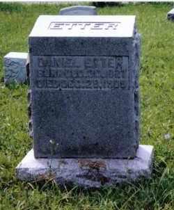 ETTER, DANIEL - Montgomery County, Ohio   DANIEL ETTER - Ohio Gravestone Photos