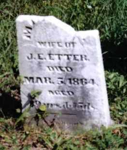 ETTER, MARTHA - Montgomery County, Ohio | MARTHA ETTER - Ohio Gravestone Photos