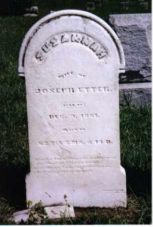 ETTER, SUSANNAH - Montgomery County, Ohio | SUSANNAH ETTER - Ohio Gravestone Photos