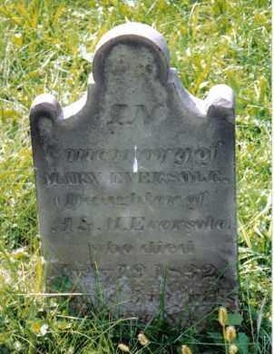 EVERSOLE, MARY - Montgomery County, Ohio   MARY EVERSOLE - Ohio Gravestone Photos