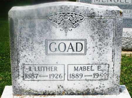 GOAD, I. LUTHER - Montgomery County, Ohio | I. LUTHER GOAD - Ohio Gravestone Photos