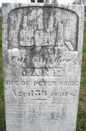 HAIRE, JANE - Montgomery County, Ohio   JANE HAIRE - Ohio Gravestone Photos