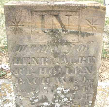 HOLLENBAUGH, HENRY ALBERT - Montgomery County, Ohio   HENRY ALBERT HOLLENBAUGH - Ohio Gravestone Photos