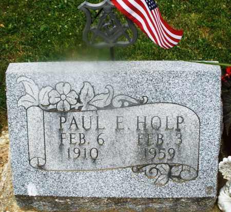 HOLP, PAUL E. - Montgomery County, Ohio   PAUL E. HOLP - Ohio Gravestone Photos