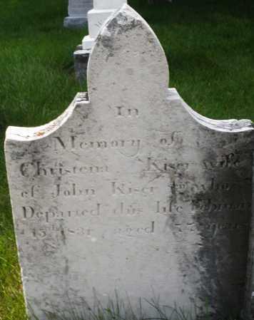 KISER, CHRISTENA - Montgomery County, Ohio   CHRISTENA KISER - Ohio Gravestone Photos