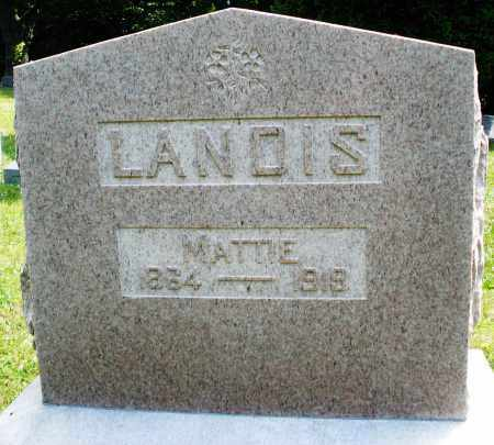 LANDIS, MATTIE - Montgomery County, Ohio   MATTIE LANDIS - Ohio Gravestone Photos